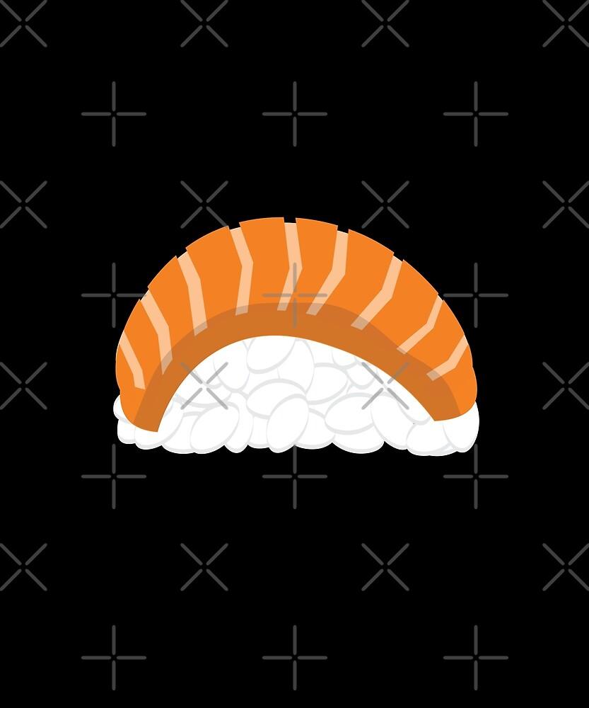 Salmon Nigiri Sushi by jetblackyak