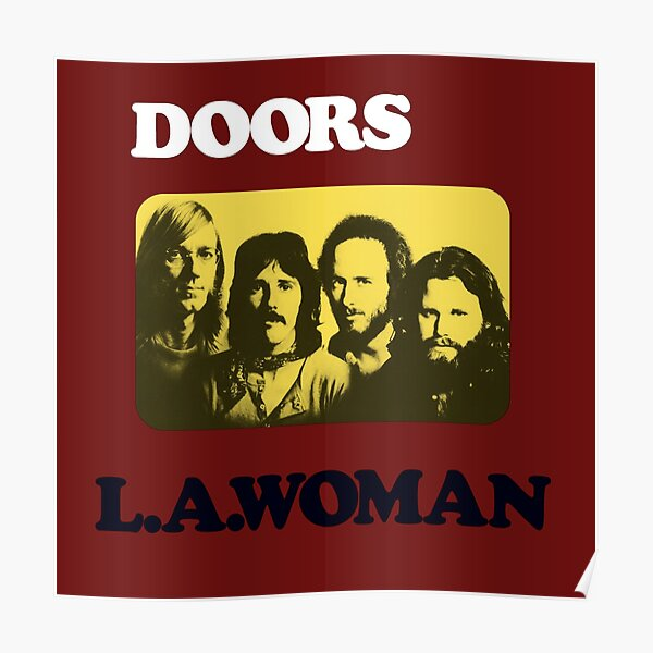Doors L.A Woman Mixed Text Poster