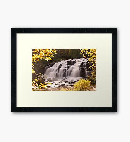 Bond Falls In Autumn Framed Print