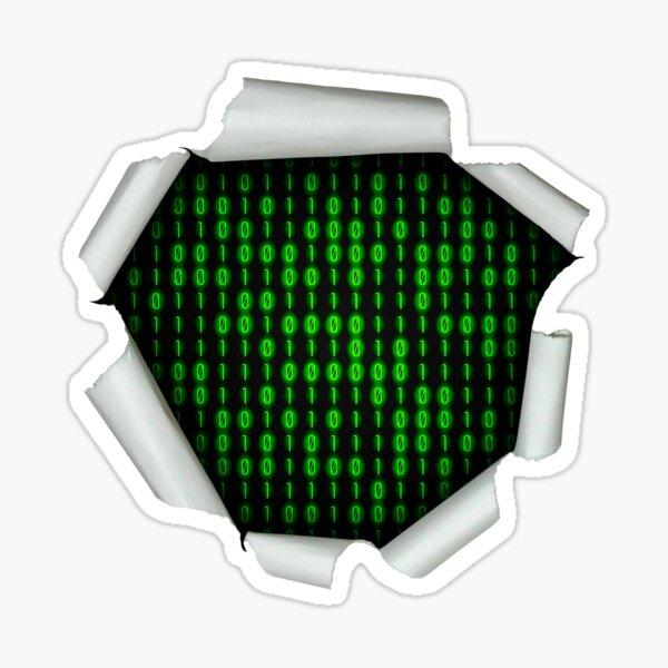 Binary Code Inside Sticker