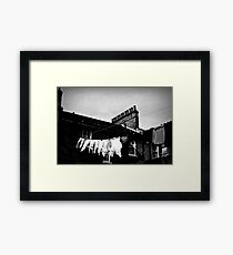 Washing Line Framed Print
