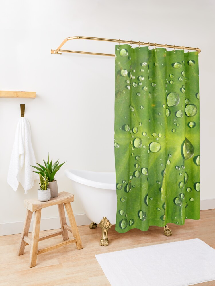 Alternate view of Raindrops  Shower Curtain