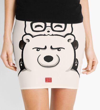Panda And Polar Bear Mini Skirt