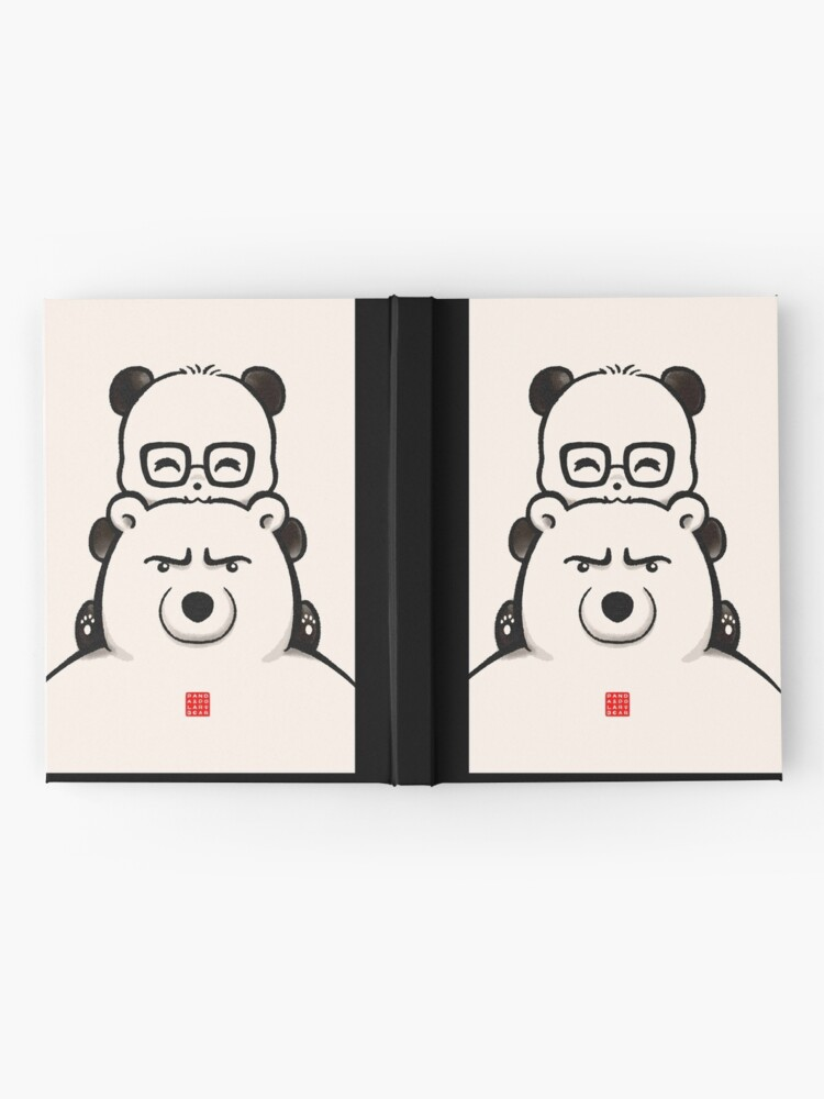 Alternate view of Panda And Polar Bear Hardcover Journal