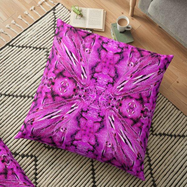 Dried Banksias Pattern in Pink Floor Pillow