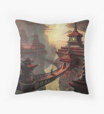 High Mountain Temples Throw Pillow