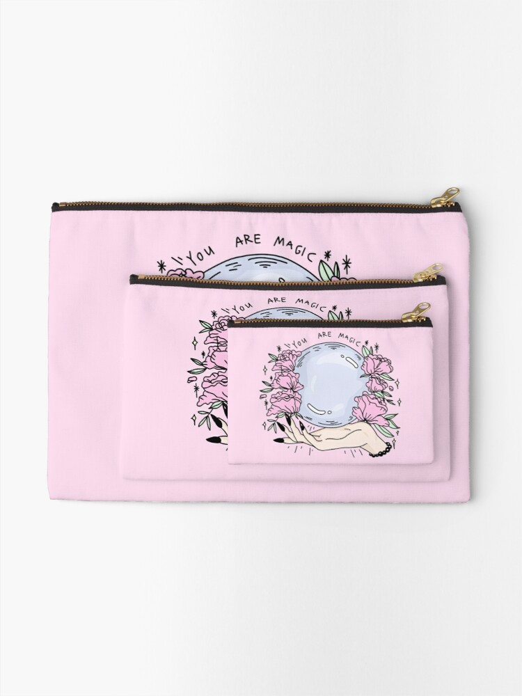 Alternate view of you are magic -pink- Zipper Pouch