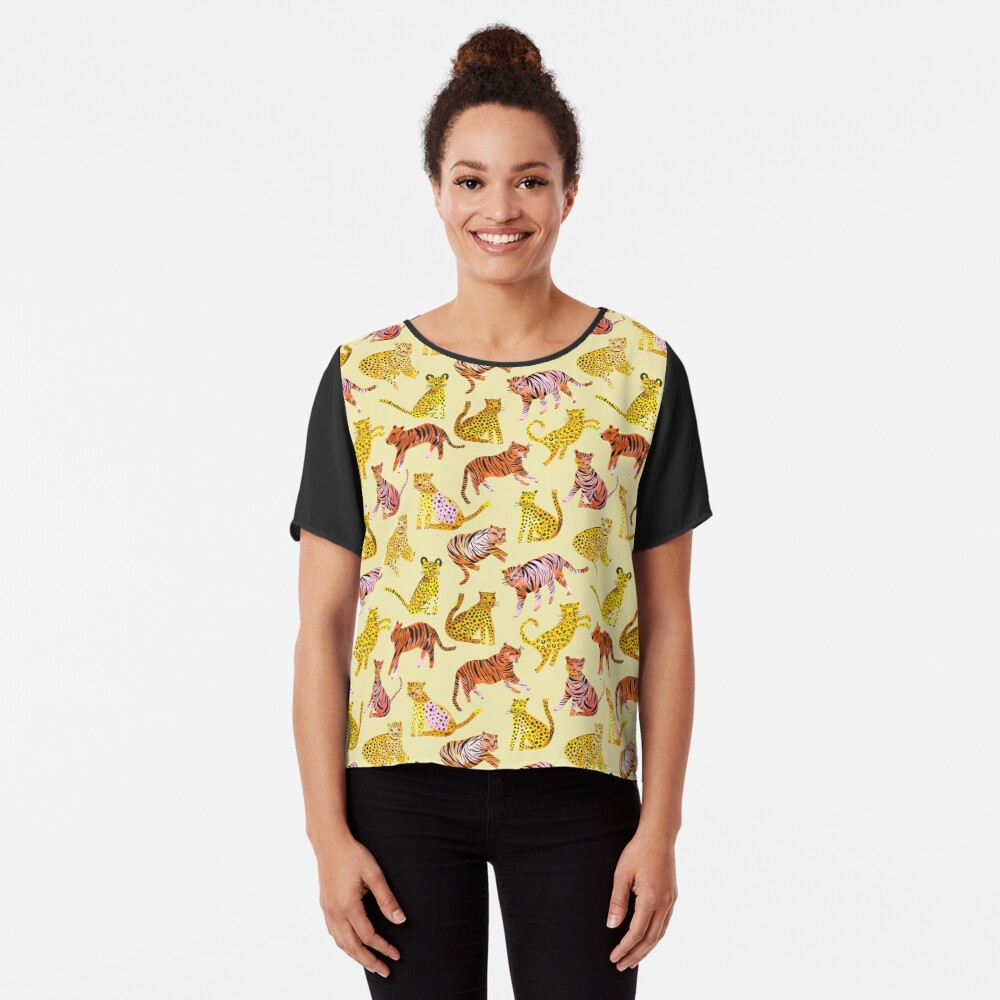 Tigers and Leopards Africa Savannah Chiffon Top