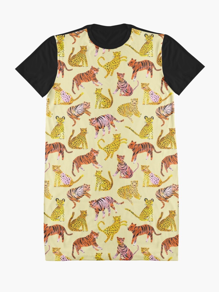 Alternate view of Tigers and Leopards Africa Savannah Graphic T-Shirt Dress