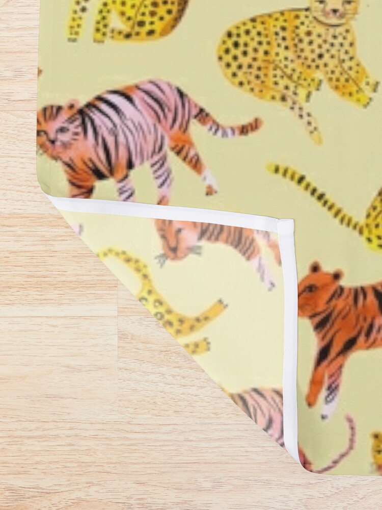 Alternate view of Tigers and Leopards Africa Savannah Shower Curtain