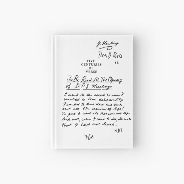 Dead Poets Society five centuries of verse black Hardcover Journal