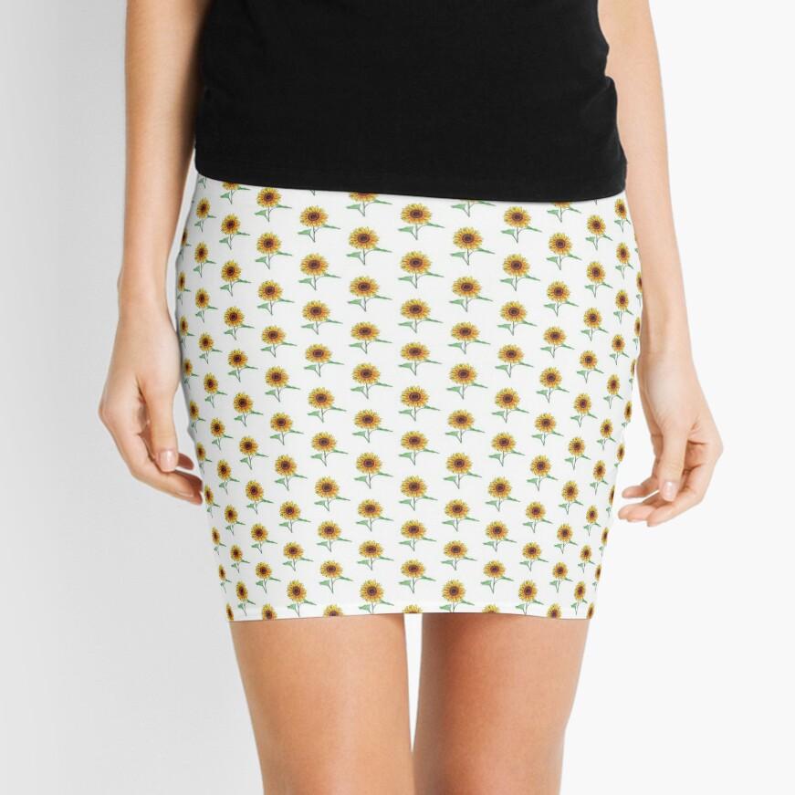 Sunflower Mini Skirt