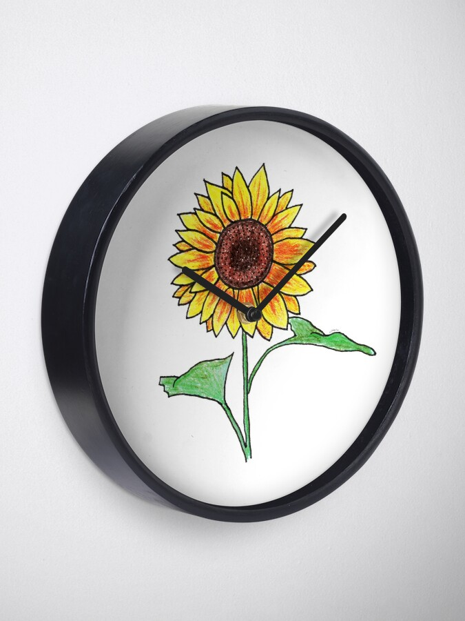 Alternate view of Sunflower Clock