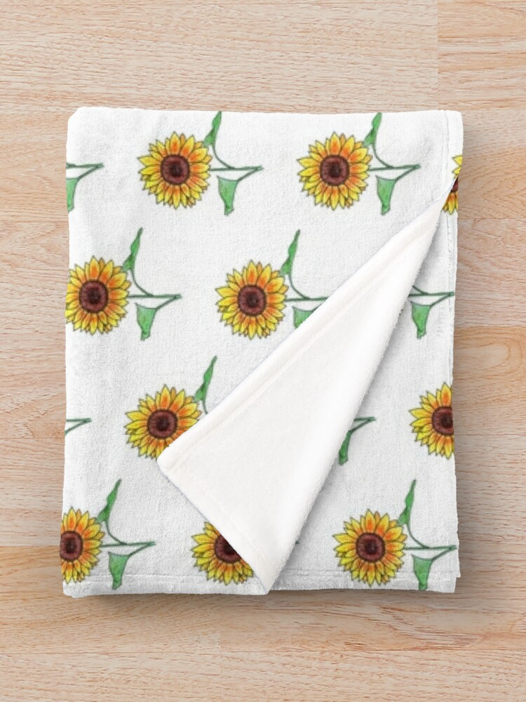 Alternate view of Sunflower Throw Blanket