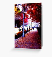 Taxi Line Up Greeting Card