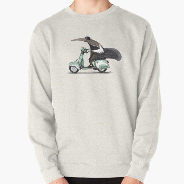 Anteater on a Vespa - Green Pullover Sweatshirt