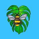 Monstera Bee by Elvedee