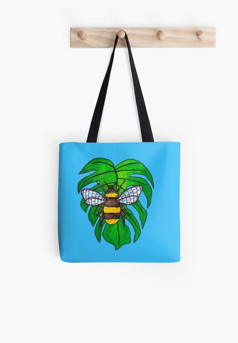 Monstera Bee by Elvedee