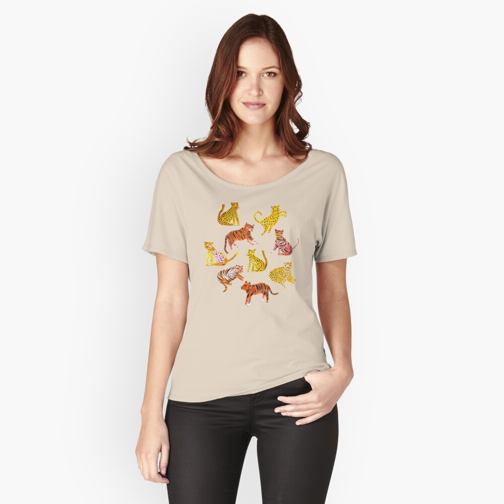 Tigers and Leopards Africa Savannah Relaxed Fit T-Shirt