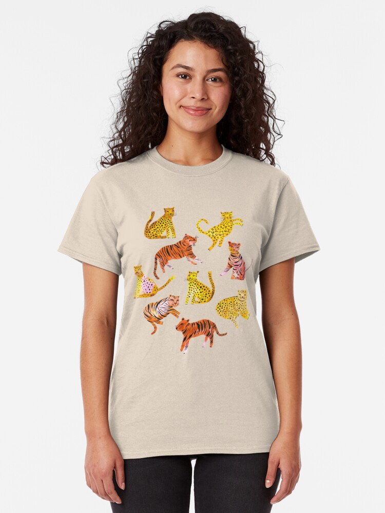 Alternate view of Tigers and Leopards Africa Savannah Classic T-Shirt