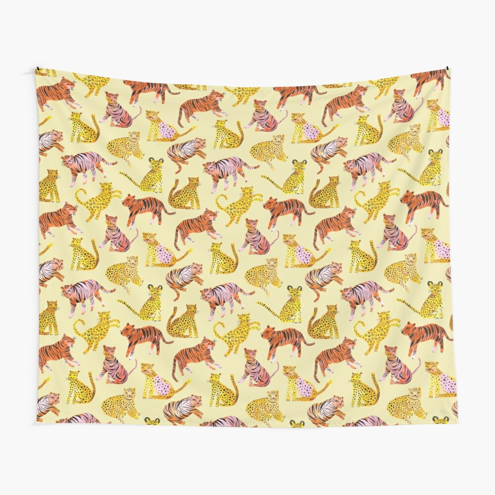 Tigers and Leopards Africa Savannah Wall Tapestry
