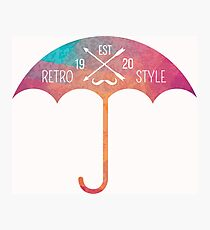 Retro umbrella Photographic Print