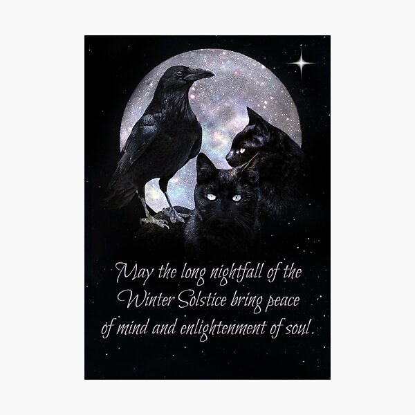 Gothic Pagan Wicca Winter Solstice Blessing Photographic Print