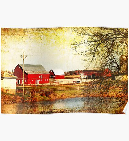 Farm Along the Apple River Poster
