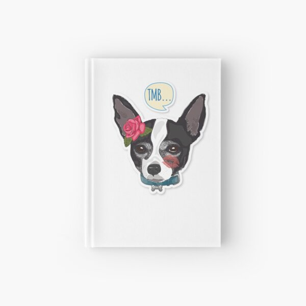 "Cutie Canine Chihuahua ""TMB"" Hardcover Journal"