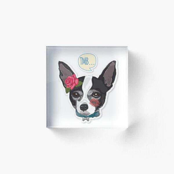 "Cutie Canine Chihuahua ""TMB"" Acrylic Block"