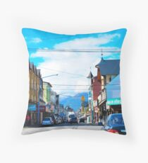 Centro comercial. Ushuaia, Argentina. Throw Pillow