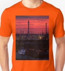 Rotterdam Harbour Skyline at Sunset, from Euromast Unisex T-Shirt