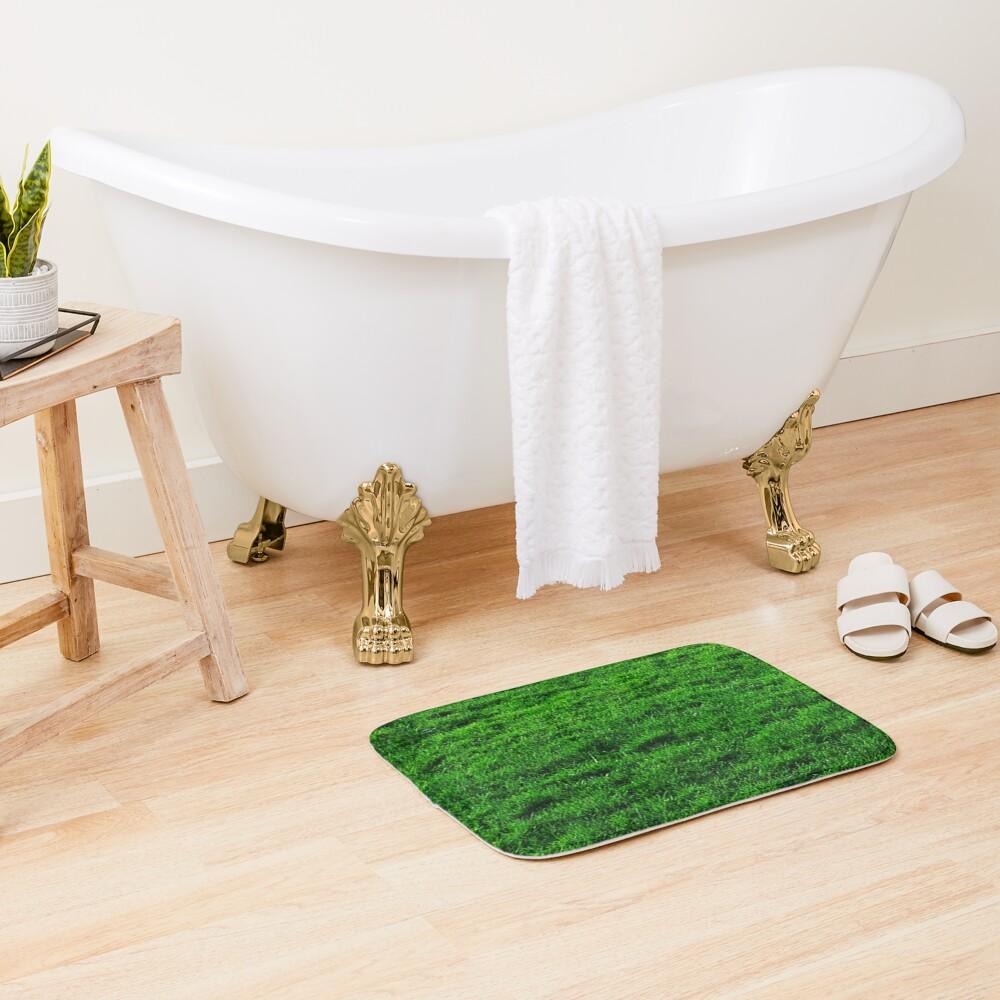 GREEN GREEN GRASS. LAWN. PITCH. Bath Mat