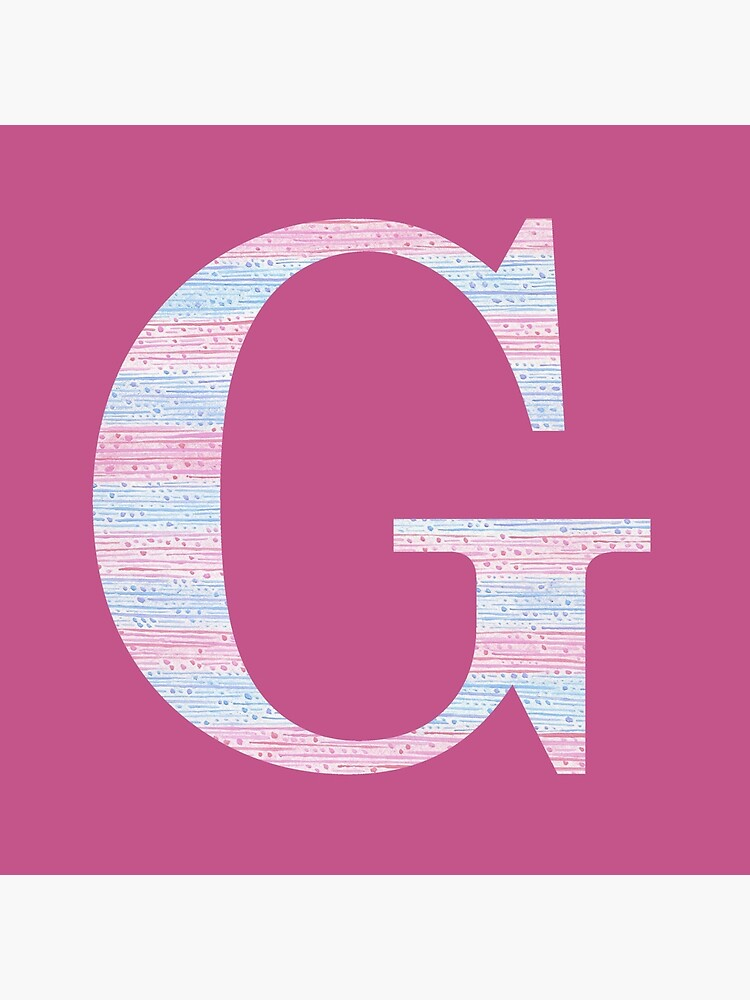 Letter G Blue And Pink Dots And Dashes Monogram Initial by theartofvikki