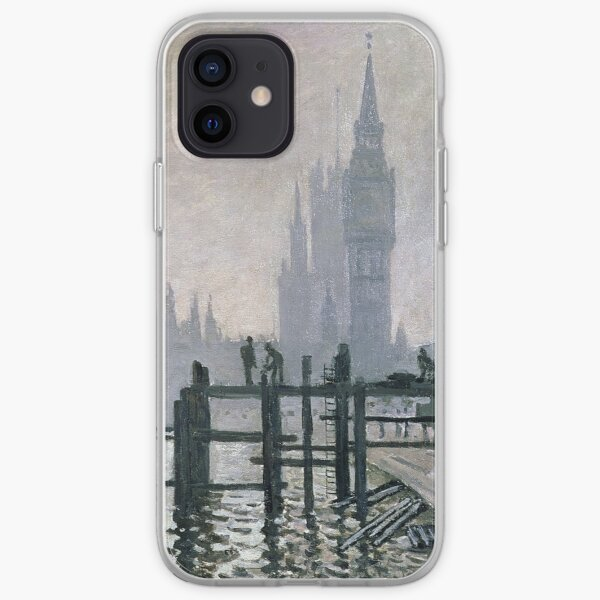 Claude Monet - The Thames below Westminster (1871) iPhone Soft Case