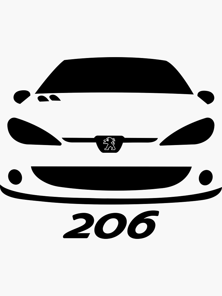 Replacement for peugeot 206 stickers stickers retro car auto frosted