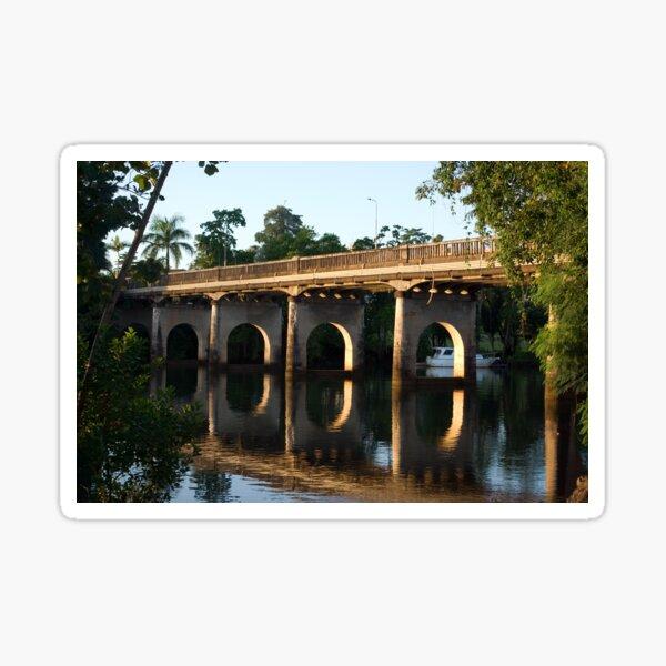 End of an Era ~ East Innisfail Jubilee Bridge, FNQ, AU  Sticker