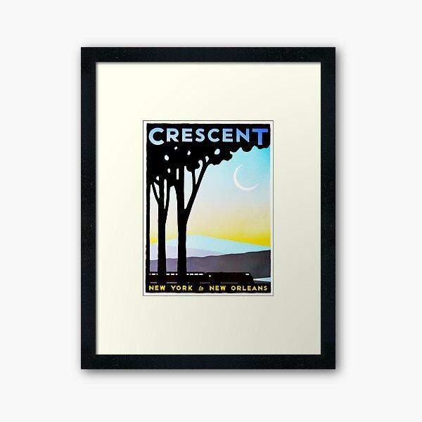 Crescent New York to New Orleans Vintage Railway Travel Framed Art Print