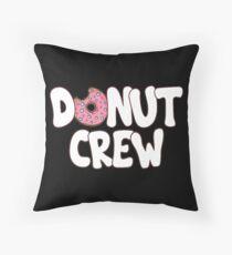 Donut Crew Doughnut Themed T-Shirt Floor Pillow
