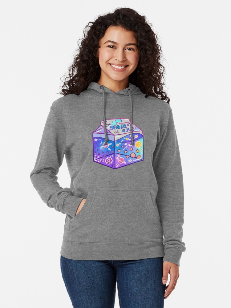 Alternate view of Milky Way Milk Carton Lightweight Hoodie