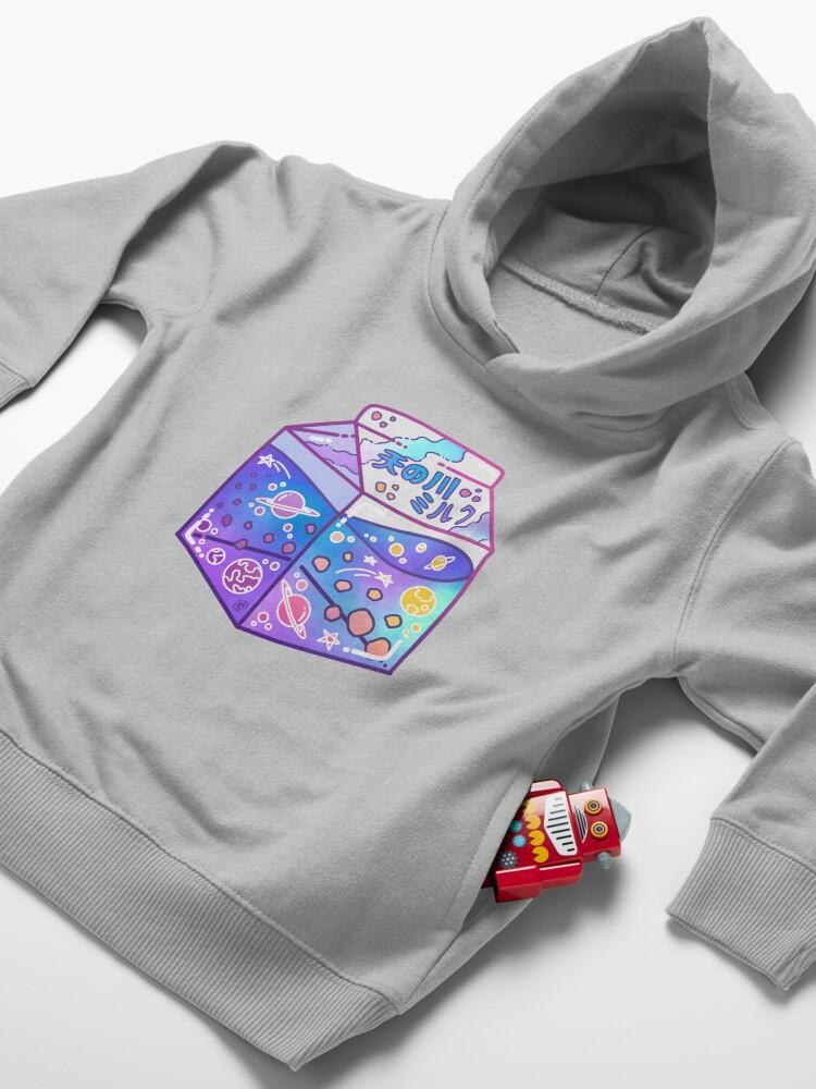 Alternate view of Milky Way Milk Carton Toddler Pullover Hoodie