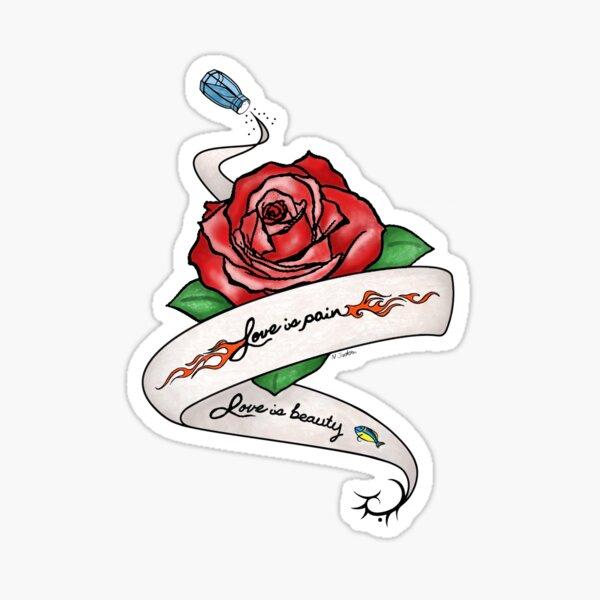 Love is Pain (Alex y Piper Vauseman Tattoo) Redibujar Pegatina