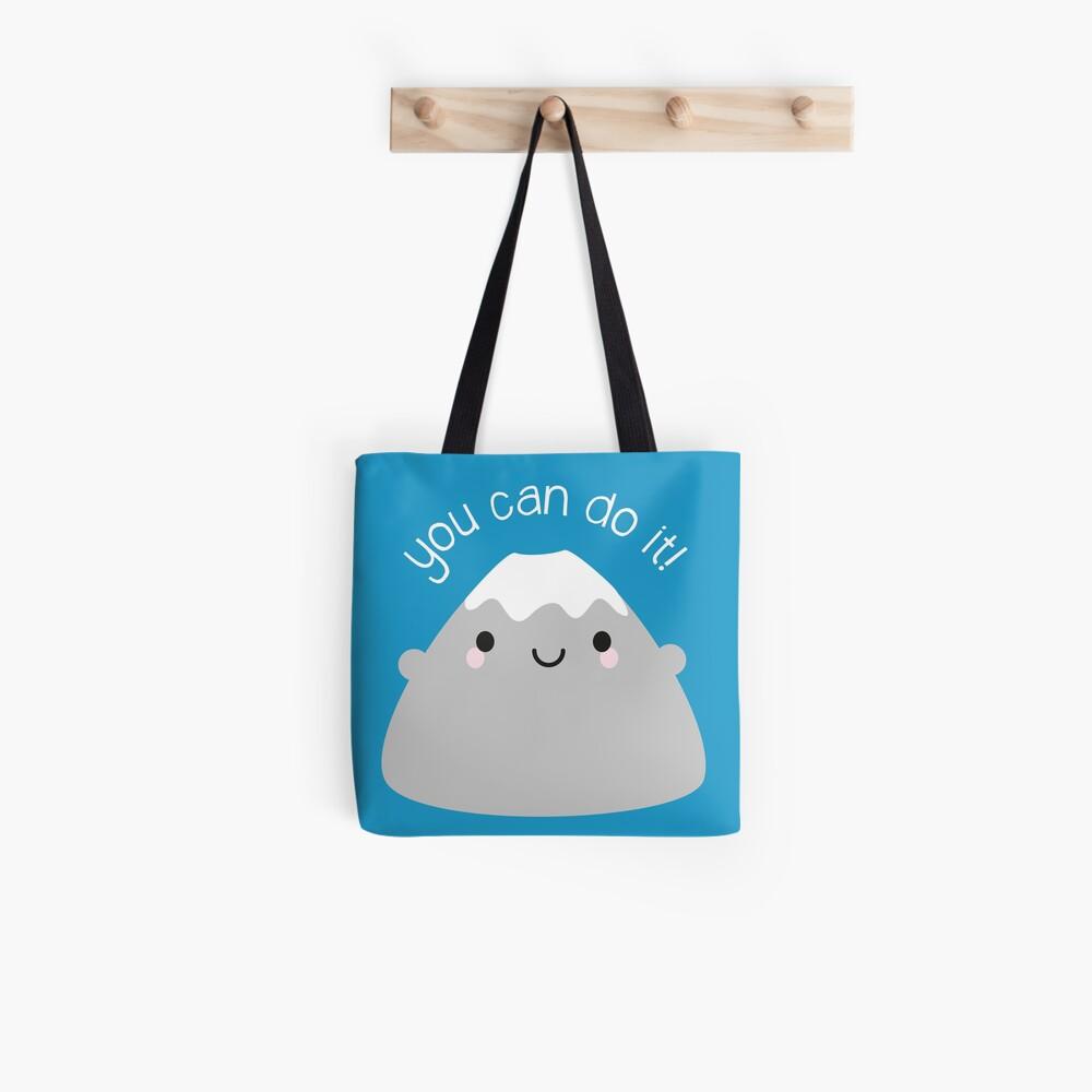 You Can Do It! Kawaii Mt Fuji Tote Bag
