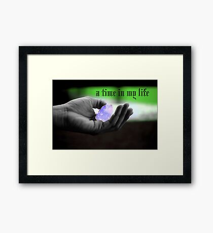 a time in my life Framed Print