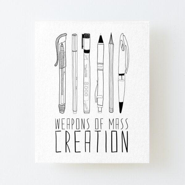 Weapons Of Mass Creation Canvas Mounted Print
