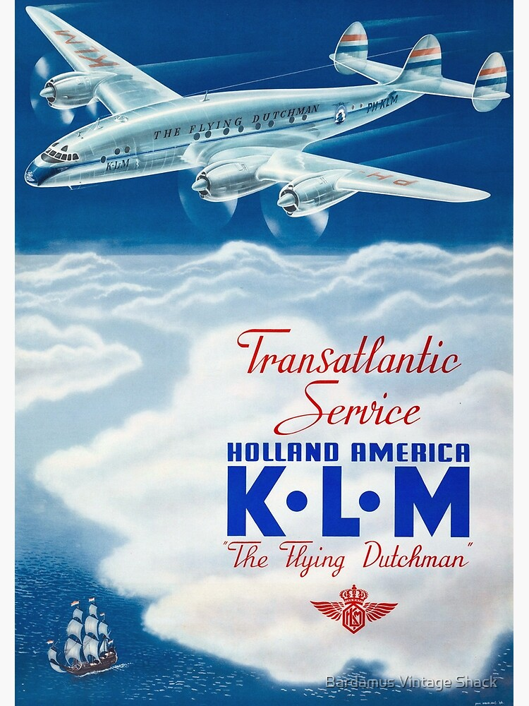 The Flying Dutchman - Vintage KLM Airline Poster by SamKovac