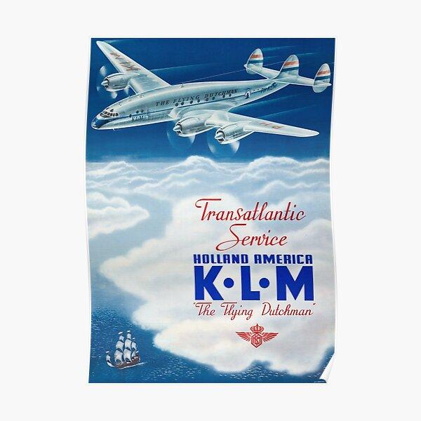 The Flying Dutchman - Vintage KLM Airline Poster Poster