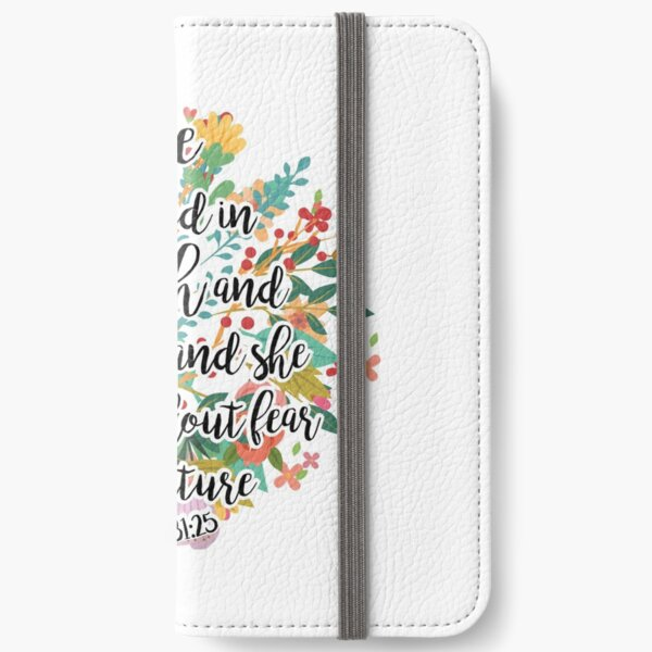 Proverbs 31:25 iPhone Wallet