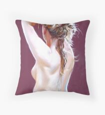 Nude Study (Pastel) Throw Pillow