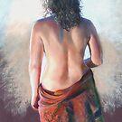 'Girl with Shawl' (Pastel) by Lynda Robinson
